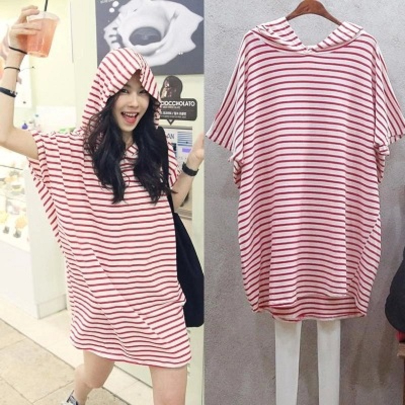 2016-new-summer-maternity-T-shirts-plus-size-stripe-knitted-women-s-T-shirts-pregnant-t (1)