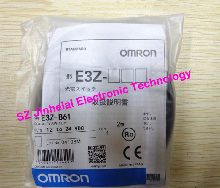 New and original  E3Z-B61, E3Z-B62   OMRON  Photoelectric switch   Photoelectric sensor    2M   12-24VDC [zob] new original authentic omron omron photoelectric switch e3s cl2 2m