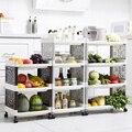 Кухонные напольные стеллажи для хранения  многослойная стабильная овощная стойка для хранения корзины  пластиковая корзина  органайзер дл...