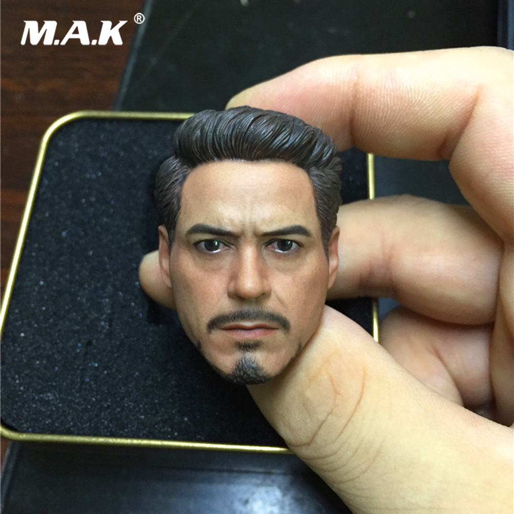 "Iron Man Tony Cartoon Ver 1//6 Scale Head Sculpt Model For 12/"" Action Figure Toy"