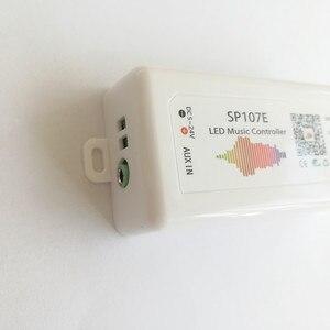Image 5 - LED Bluetooth SP107E pikseli IC SPI muzyka kontroler LED przez aplikacja na telefon dla WS2812 SK6812 SK9822 RGBW APA102 LPD8806 taśmy DC5 24V