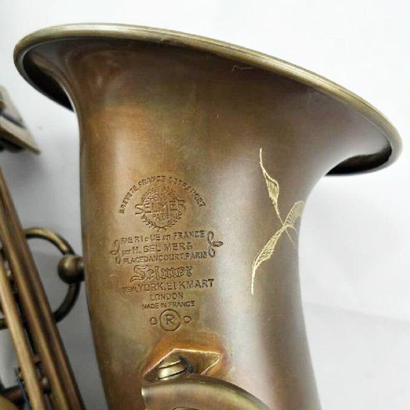 Français Alto Saxophone Mark VI Bronze Intermédiaire Saxophone Alto Antique En Laiton Instruments de Musique Professionnel Inclus Cas