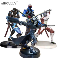 OW Black/ White Reaper Genji Soldier 76 Action Figure Characters 26 30cm PVC Statue (Chinese Version)