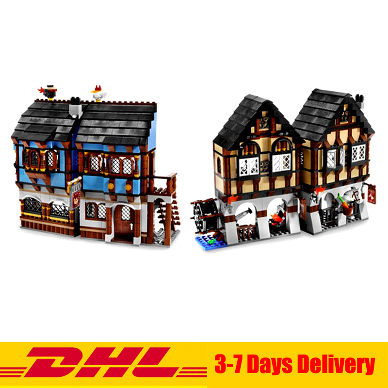 DHL Lepin 16011 1601Pcs Castle Series The Medieval Manor Castle Set Educational Building Blocks Bricks Model Toys Gift 10193 lepin 16017 castle series genuine the king s castle siege set children building blocks bricks educational toys model gifts