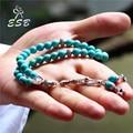 ESB azul piedra islámica 33 oración Tasbih Alá musulmán Rosario Misbaha Masbaha Sibaha Islam Ramadan regalo