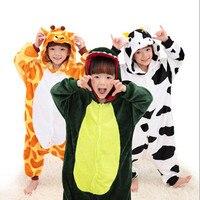 Free Ship Children Kid Unisex Pajamas Cosplay Costume Animal Onesie Sleepwear Penguin Coon Lion Dog Koala