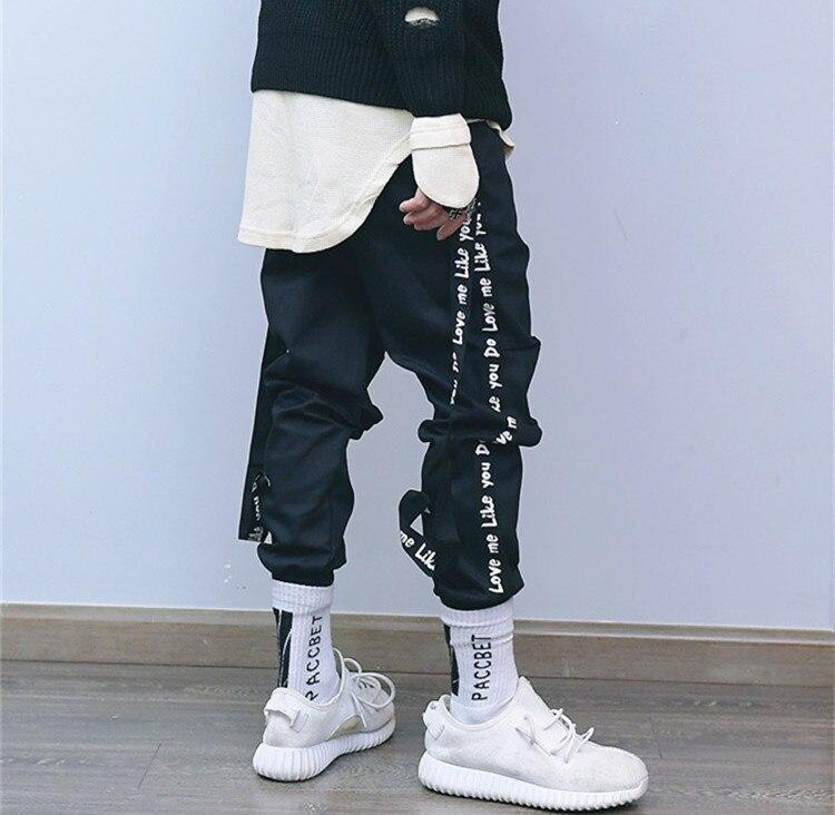 Cinta Hip Style Casual Hop Extraíble Nueva Pantalones Para Negro Hombres Ideas Streetwear Hombre gris Moda 2018 Brand Street OWqUzWxw6B