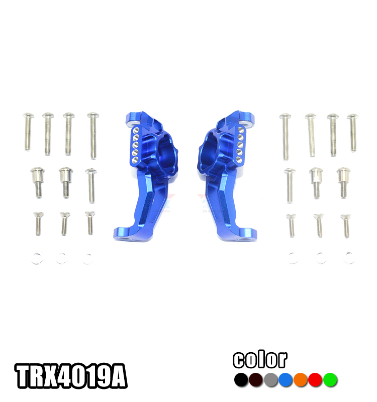 1Pair TRAXXAS TRX4 Hub Carrier Aluminum Wheel Hex Hub Carrier Metal Front Steering C Block for LandRover Defender RC Cars aluminum steering knuckle carrier aka caster block c hub set for the traxxas x maxx