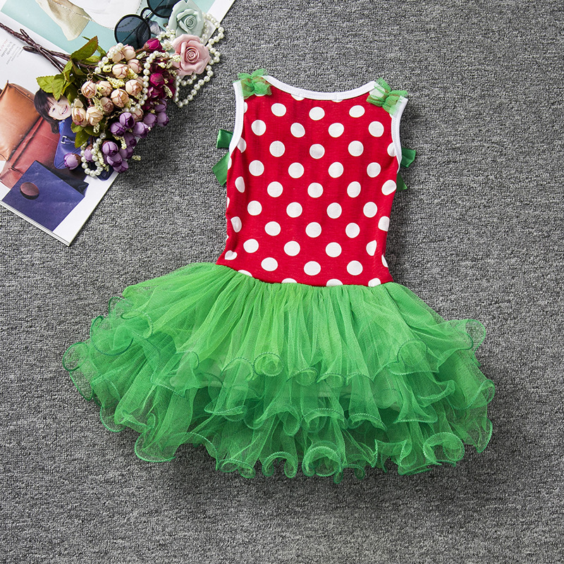 Free shipping European and American Christmas dress children's deer dress holiday party performance girl's lace dress JQ-2017