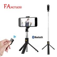 FANGTUOSI складной мини-штатив Bluetooth селфи-Палка с беспроводным затвором выдвижной монопод универсальный для iPhone IOS Android