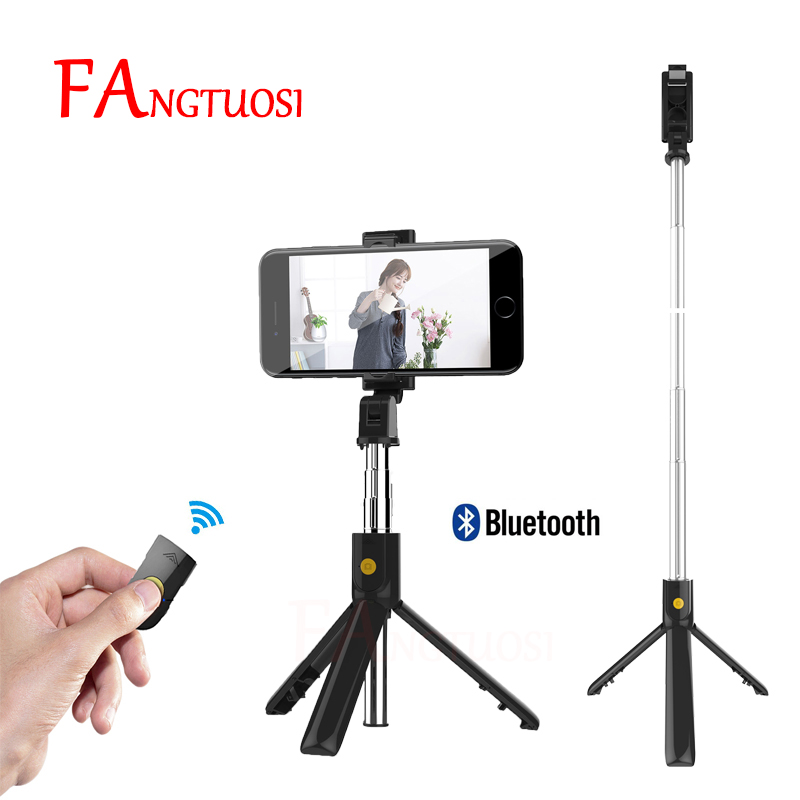 FANGTUOSI Foldable mini Tripod Bluetooth Selfie stick With Wireless Shutter Extendable Monopod Universal For iPhone IOS Android