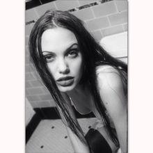 Impresión artística Angelina Jolie Vintage película caliente actriz modelo estrella lienzo ligero póster 14x21 20x30 24x36 pulgadas decoración de pared C-2309