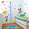 cartoon minnie mickey mouse growth chart height measure kids baby nursery bedroom wall sticker decorative home decals diy decor 4