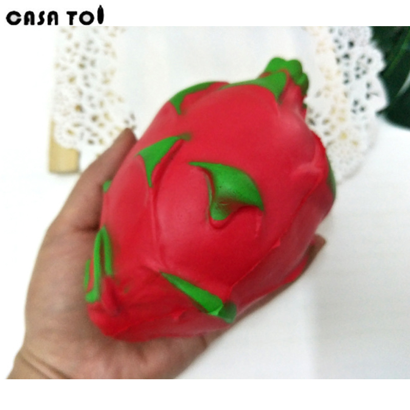 PU Squishy Cute Pitaya Soft Toy Squeeze Funny Stress Squishies Fun Crazy Squeeze Childrens Toys For Boys and Girls