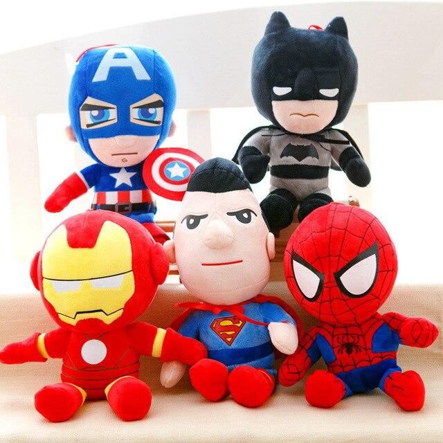 Os Vingadores Brinquedos de Pelúcia Hulk Thor Capitão América Ironman Spiderman Recheadas Brinquedos De Pelúcia Bonecos De Pelúcia Macia Grande Presente