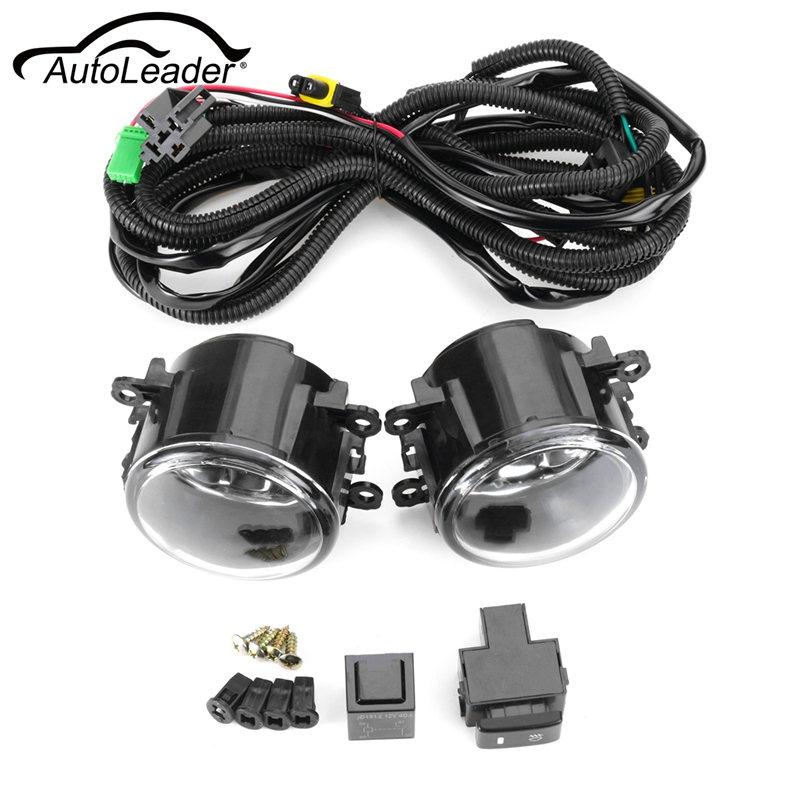 Pair Front Fog Lights w/ Wiring H11 Bulbs For Suzuki SX4 Grand Vitara 2006 2007 2008 2009 2010 2011 2012