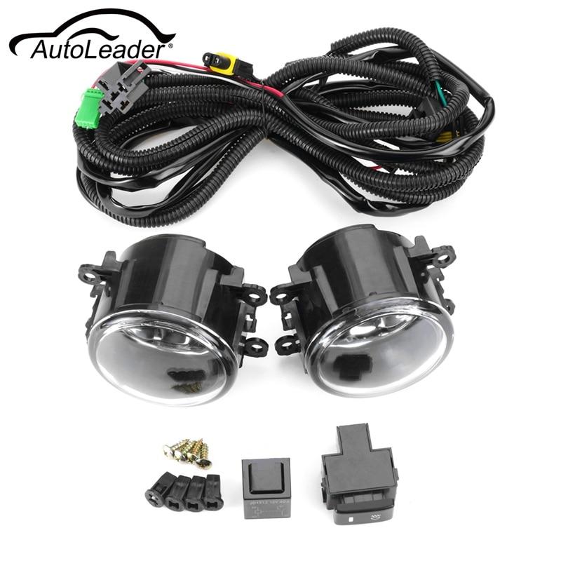Pair Front Fog Lights w/ Wiring H11 Bulbs For Suzuki SX4 Grand Vitara 2006 2007 2008 2009 2010 2011 2012