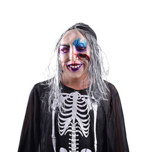 Horrible Facial Mask Terrifying Caps of Eco-Friendly Natural Latex for Halloween Costume Ball 1pc Ghost Mask Halloween Costume halloween horrible ghost printed party mask with wig