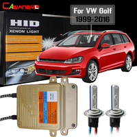 Cawanerl 55W H7 Car Ballast Lamp AC No Error HID Xenon Kit Auto Light Headlight Low Beam For VW Volkswagen Golf 1999 2016