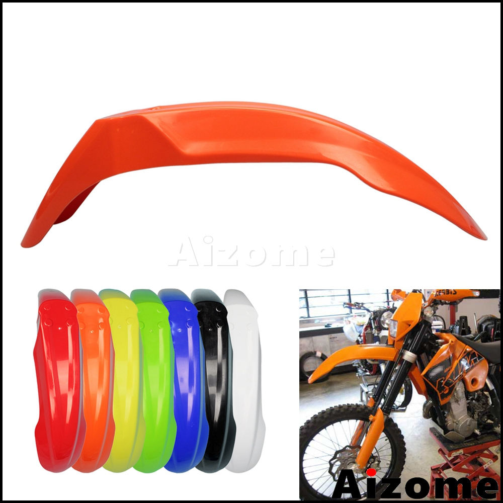 Universal Enduro Front Fender Motocross ABS Plastic Mudguard Orange Off Road Front Mud Guard For KTM MX SXF SX XCW XC EXC XCF