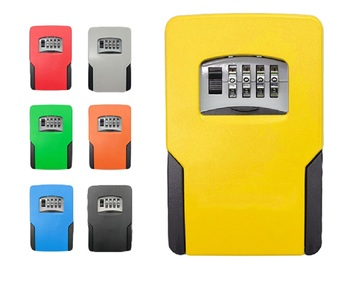 Big size Key Lock Box House Storage with 4 Digits Combination Outdoor Safe Sturdy Wall Mounted