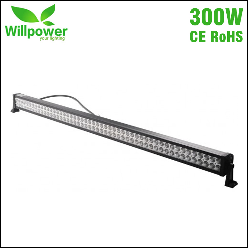 straight led work light 52 Inch double rows combo beam 4x4 truck tractor car off road 300w led light bar for JEEP