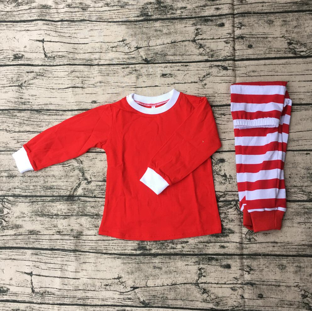 high quality baby christmas sets long sleeve children boutique winter pajamas kids