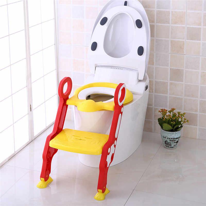 Детский горшок туалет тренировочное сиденье шаг лестница-стул регулируемый тренировочный стул тренировочный Туалет Тренажер детская ванная комната