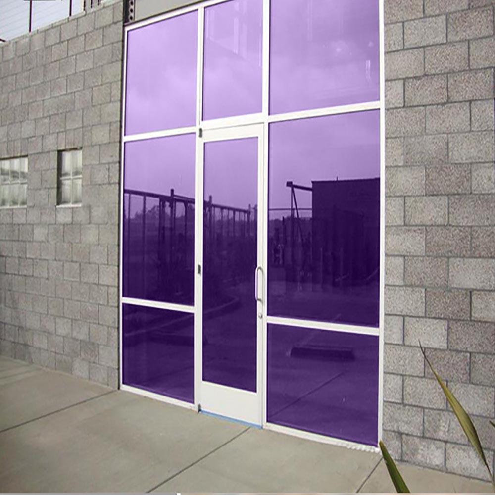 HOHOFILM 1X3 m violet fenêtre Film solaire teinte décorative feuille de verre solaire teinte fenêtre film décoratif fenêtre autocollant résistant aux UV
