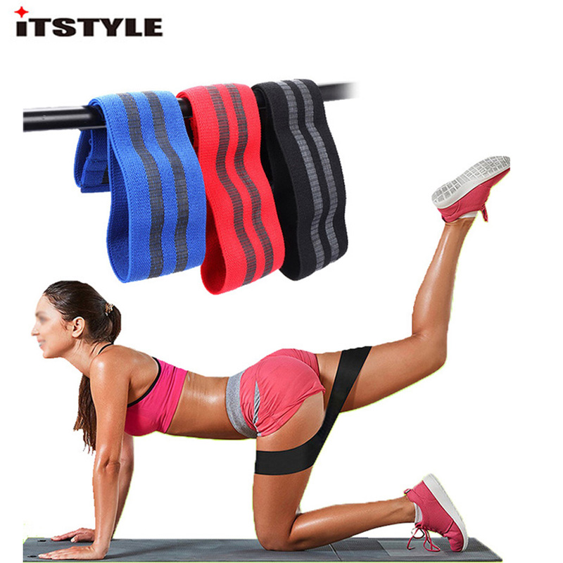Non Slip Hip Circle Loop Resistance Band Workout Exercise