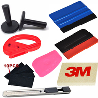 9 in1 Car Wrap Application Tool 3M Blue Squeegee + Magnet + 3M Wool Squeegee