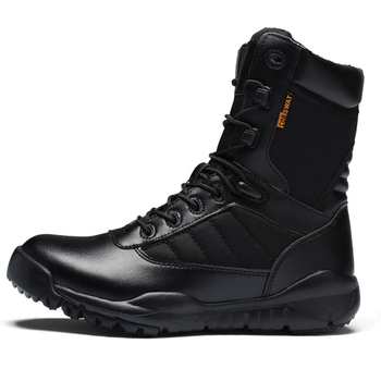High Quality Men's Super Fiber Leather Army Tactical Boots Shoes Sneakers For Men Outdoor Hiking Trekking Shoes Boots Man