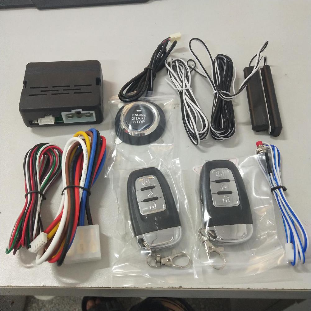 8Pcs/set Universal Car Alarm Start Security System PKE Induction Anti-theft Keyless Entry Push Button Remote Kit 12V