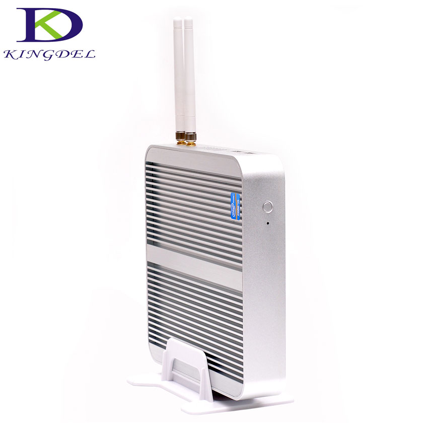 Fanless pc core i3-5005U/ i5 4200U Dual Core 4*USB 3.0 HDMI VGA 300M WIFI Windows7/8/10,Linux computer