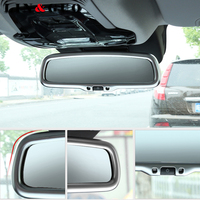 For Alfa Romeo Giulia Stelvio 2017 Car styling Carbon fiber Interior Rearview Mirror Frame Cover Trim Accessories