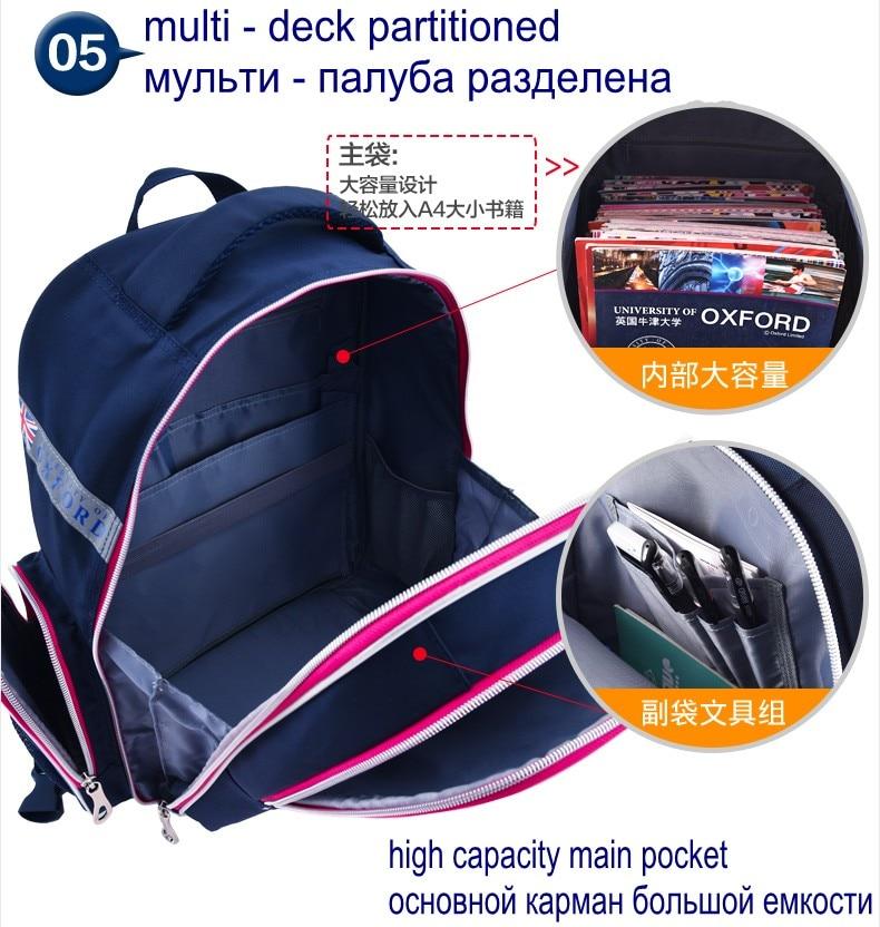 Hot Sale University Of Oxford Orthopedic School Bags Children Backpack Portfolio Rucksack For Teenagers Boys Girls #6