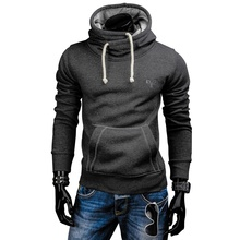 Spring Autumn Hoodies Men Fashion Brand Pullover Solid Color Turtleneck Sportswear Sweatshirt MenS Tracksuits 2018 New ZOGAA