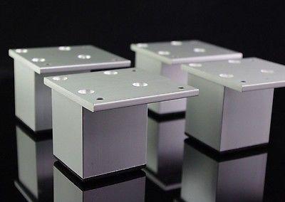 4pcs Set 60mm Metal Furniture Cabinet Legs Bed Tea Table Chair Sofa Leg Feet
