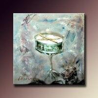 Home Decor Muurschildering Muur Art Abstract Drum Muziekinstrument voor Muziek Hall Decoratieve 100% Handgeschilderde Unframed 60X60 cm