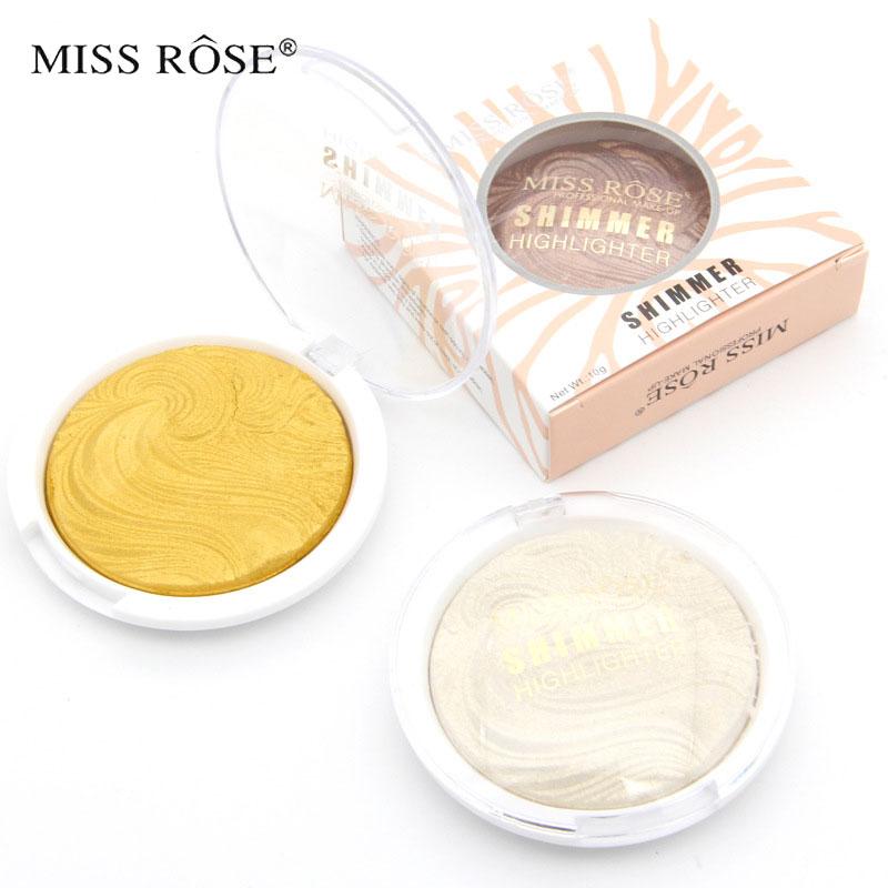 Miss rose horneado Shimmer Highlighter y Bronzer Powder paleta de - Maquillaje