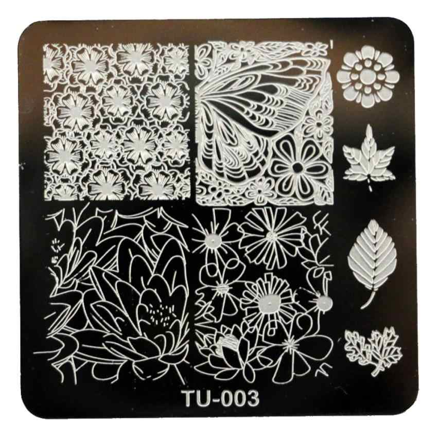 1pcs  DIY Nail Art Stamp Template Image Plates Nail Art Stamping Tools Manicure Template Drop  ship Beauty 18.19