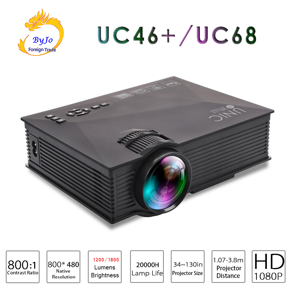 AirSharing theater multimedia projector UNIC uc46 or UC68 mini led projector with Full HD 1080p Video