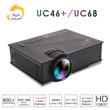AirSharing theater multimedia projector Original UNIC uc46+/UC68  mini-led projector with Full HD 1080p Video
