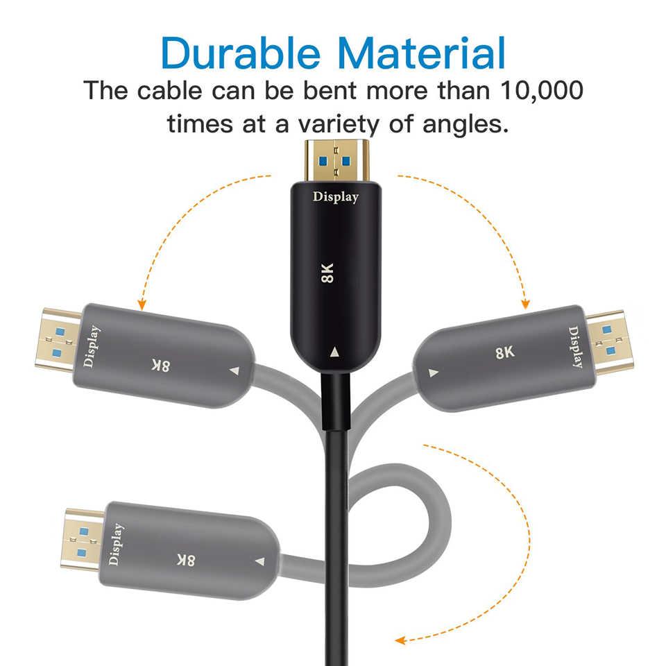 2019 8 K HDMI 2.1 Cavo 48 Gbps 4K @ 120Hz HDMI 2.1 In Fibra Ottica Maschio a Maschio 2.1 cavi HDMI UHD HDMI 2.1 Cavo 5 m 10 m per DVD TV