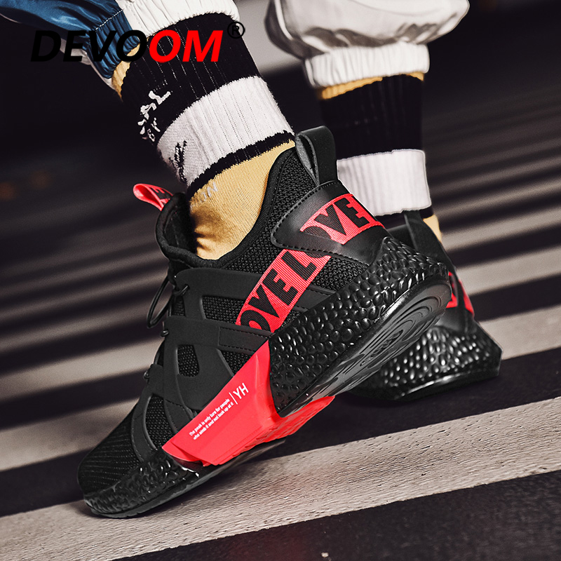 new concept 091c1 2632e US $26.42 40% OFF|Casual Shoes Men Fashion Summer Autumn New Man Shoes  White Red Bottom Footwear Mens Trainers 2018 Sneakers Male Schuhe Herren-in  ...
