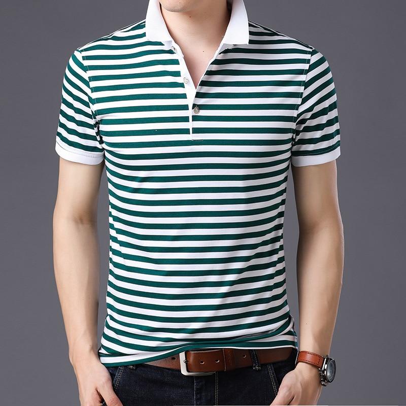 Thoshine Brand England Style Men   Polo   Shirts 95% Viscose Hight Quality Fashion Striped   Polo   shirt Causal Camisa Turn-Down Collar