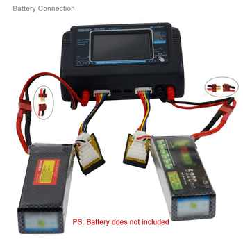 HTRC T240 Touch Screen Dual Channel Battery Balance Charger Discharger DUO AC 150W DC 240W 10A For RC Models Toys