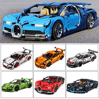 Decool Technic 20086 20086C 20001 Racing Car Building Blocks Bricks Compatible IegoSet 42083 42056 Gifts Toys bugatti Chiron
