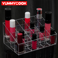 Plastic Lipstick Storage Boxes Lip Balm Makeup Cosmetic Rack Organizer Desktop Case Accessories Supplies Gear Item