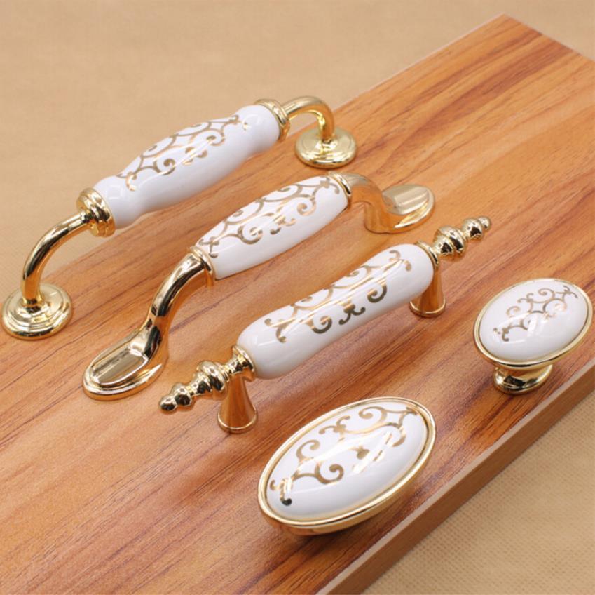 Dresser Knobs Pulls Drawer Pull Handles Ceramic Kitchen Cabinet Door Knobs G Furniture Pull Porcelain Handle Hardware in Cabinet Pulls from Home Improvement